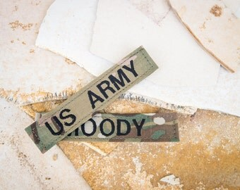 US ARMY MultiCam Name Tapes with or without velcro