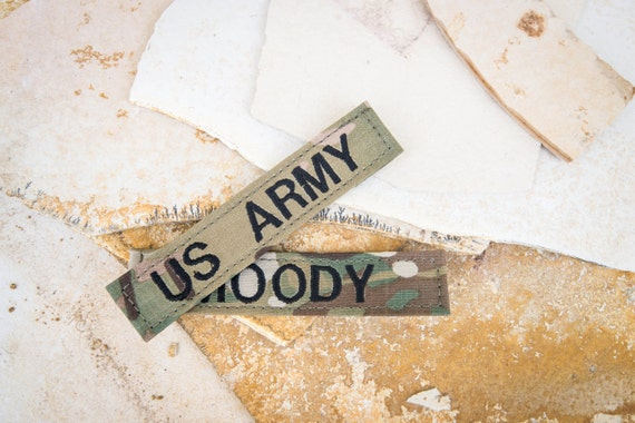 us army multicam name tapes with or without velcro. Black Bedroom Furniture Sets. Home Design Ideas