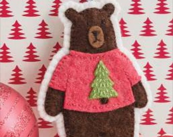 Itchy Holiday Sweater Bear Ornament Pattern #S600 by Martingale