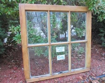 28 x 27 Vintage Window sash  6 pane  from 1915
