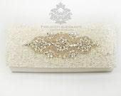 Rada - Lace bag, lace clutch bag, ivory lace bag, wedding clutch bag, lace wedding bag, lace clutch.