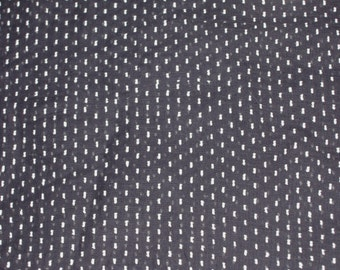Vintage 34 Inches Wide Black Dotted Swiss Fabric Half Yard New Old Stock 1980's - Sold by the half yard - Apparel, Costume - DESTASH