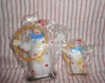 Clown Toppers-Vintage-Big and Little