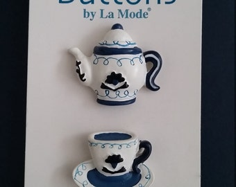 Teapot and cup buttons