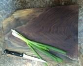 Live Edge Cutting Board, Solid Walnut Slab, Solid Cutting Board
