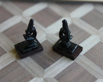 Dollhouse miniature scientific bookends