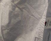 Twin Flat Sheet Tommy Hilfiger 100% Cotton Light Blue Stripe