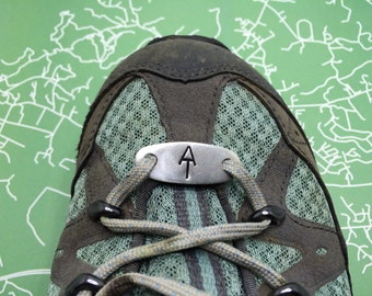 Appalachian Trail Shoe Tag | Custom hand stamped shoelace tag | Gift for hiker