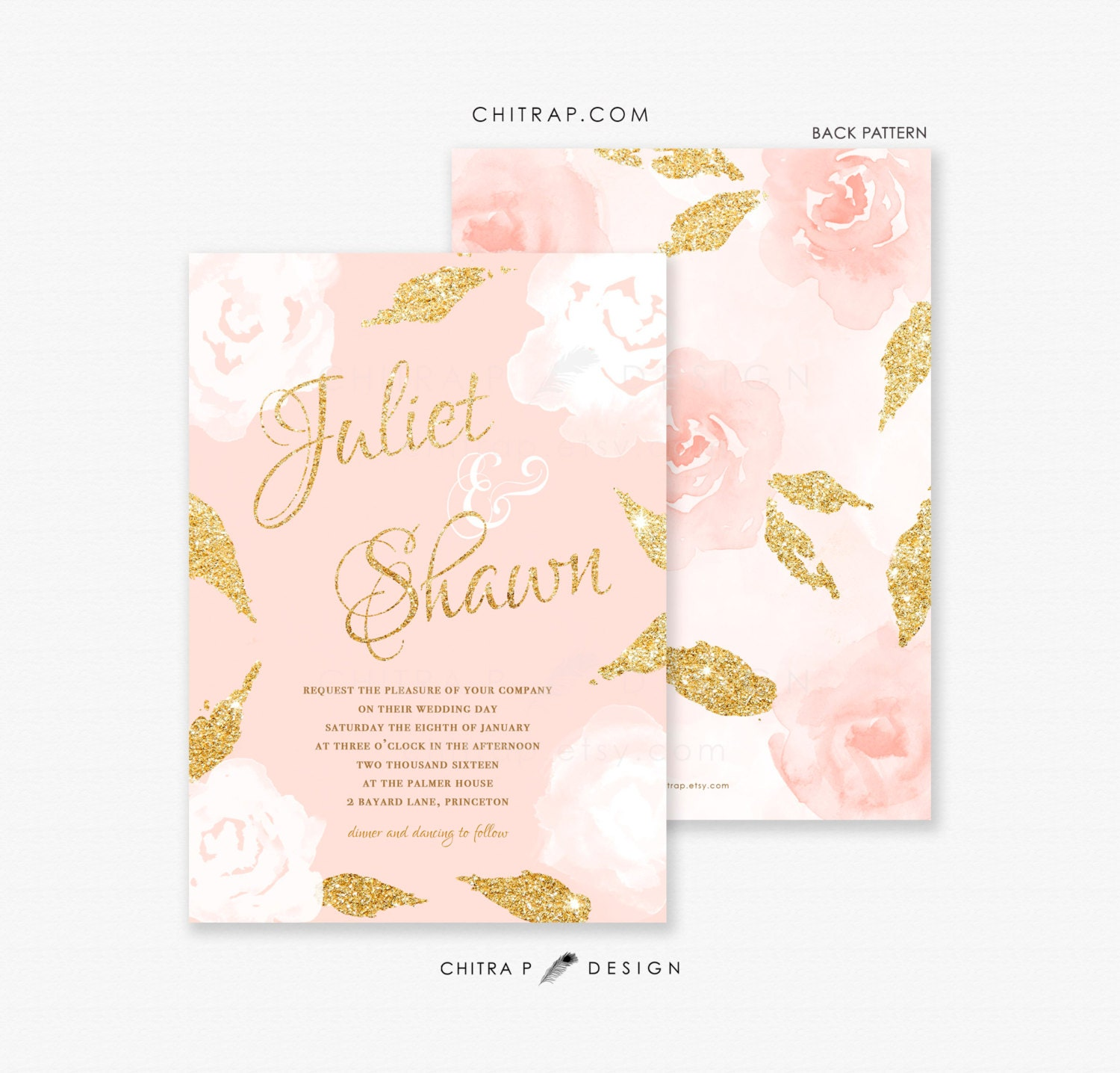 pink and gold wedding invitations blush pink gold wedding invitations printed glitter white 6559