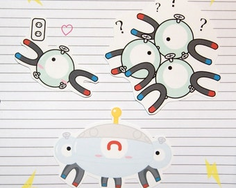 Magnemite/Magneton/Magnezone Stickers and Magnets