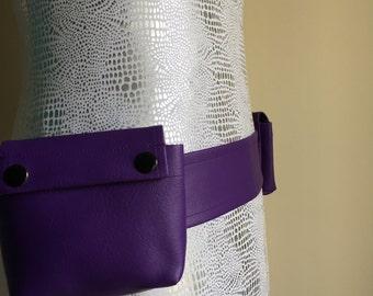 "Purple Marine Vinyl Utility Belt - custom size 28"" - 46"""