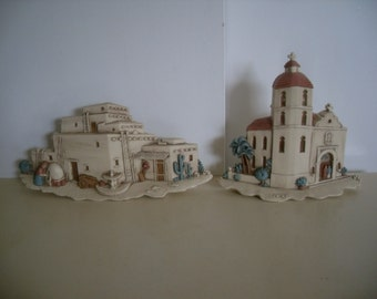 Vintage Southwest Style Wall Hangings,Plaques by Burwood