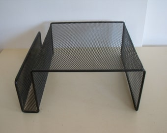 Vintage Mid Century Wire Mesh Table Top Telephone Stand