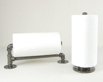 Paper Towel Holder - Repurposed from Pipe Fittings (Black)