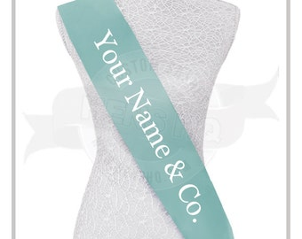 Your name & Co. designer inspired Bridal Party Bachelorette Hens Night Sash