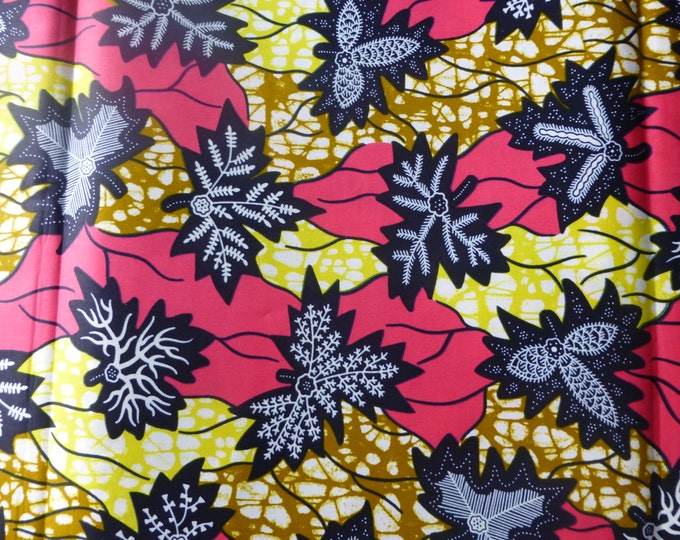 African Fabrics 100% Cotton Super Wax Prints Sold By Yard162129599357