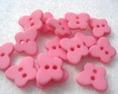 10mm Pink Butterfly Buttons Pack of 15 Small Pink Butterfly Buttons A169
