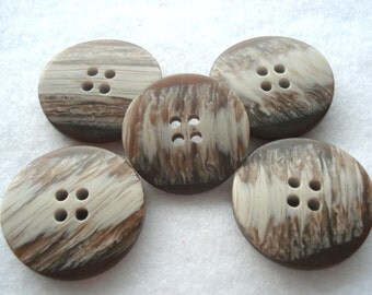 Brown Resin Buttons Pack of 5 30mm Brown Buttons RB145