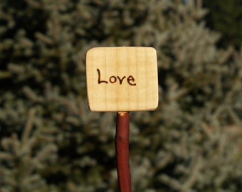 Love Sign, stick in with flowers or a wreath, in a house plant or in your garden or in a CAKE.