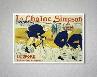 Le Chaine Simpson by Henri de Toulouse Lautrec - Poster Paper, Sticker or Canvas Print