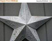Reserved -- Vintage 24 Inch Metal Star - Distressed White /Texas / Country Wall Decor
