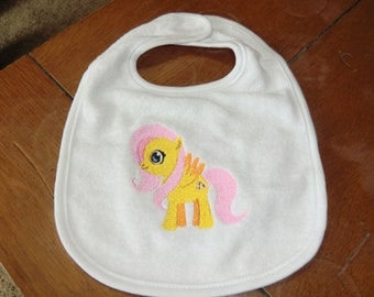Embroidered Baby Bib - My Little Pony - Fluttershy