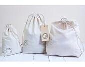 bag to bulk lot of 3 organic cotton