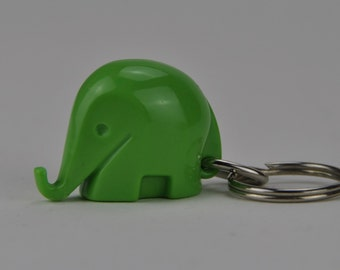 Vintage Colani Style Elephant Keychain. Space Age. Green. 1960s. German. Germany. 1027.