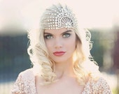 End of Line 50% Lujon - Crystal Art Deco 1920's Tulle Headpiece