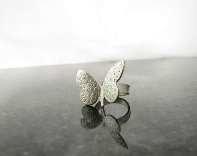 Silver Butterfly Rings