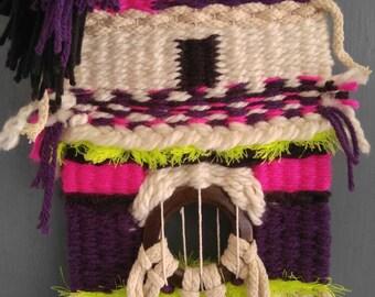 Purple and neon weaving