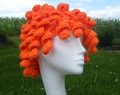 Patterns as PDF: Curly Hat Wig