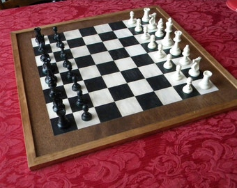 Tornament Size Chess Board-Large Checkerboard-Handmade  Chess/Checkerboard-Gameroom Checkerboard Wall Art-