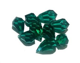 4 - 10x6 mm Emerald Preciosa Crystals Tear Drops