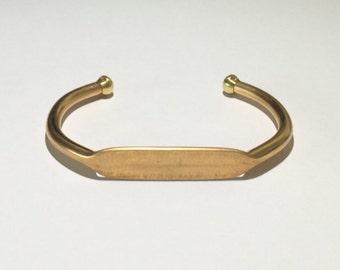 """1 Brass Cuff, 2 3/4"""" wide, 1 1/2"""" Center"""