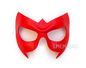 Robin Nightwing Leather Mask Red Black Green Cosplay Jason Todd Damian Wayne Arrow Hood Super Hero Halloween Masquerade Carnival Superheroe