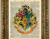 Harry Potter Hogwarts Crest Dictionary Art
