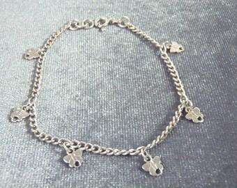 Sterling Silver Butterfly Charm Bracelet B72