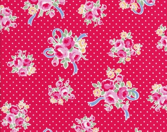 Lecien Flower Sugar Fall 2016 Sweet Carnival Collection 31378 33 - Polka Dots  - Floral Fabric - Bow Fabric