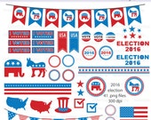 2016 Presidential Election Digital Clipart - Instant download PNG files