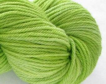 Hand Dyed Worsted Yarn - Jean Greenie