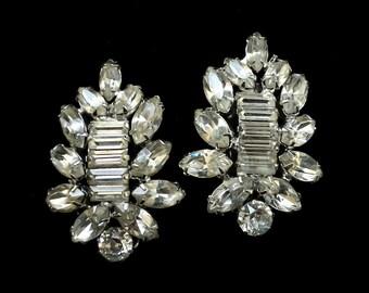 Weiss Rhinestone Earrings Bridal Jewelry Vintage