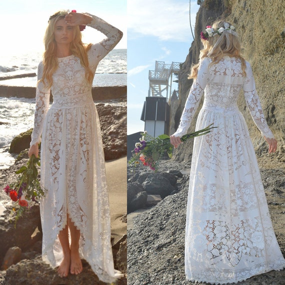 Non White Wedding Dresses: Reserved 4 Victoria Lace Victorian Edwardian Fishtail Wedding
