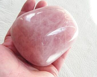 Rose Quartz Heart, natural polished crystal, gemstone, new age metaphysical #7