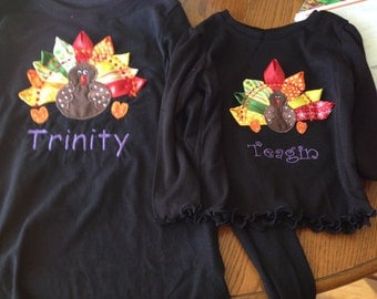mom and daughter Thanksgiving shirts