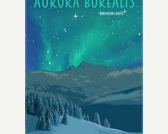 30% OFF WOW 50 Percent OFF Wow Aurora Borealis Northern Lights Minimalist Wonders Poster