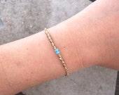 Minimalist Jewelry-Czech Glass Bracelet-Personalized Jewelry-Simple Bracelet-Gift Bracelet-Monogram Jewelry-Beaded Jewelry-Delicate Bracelet