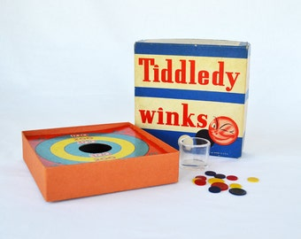 Vintage Tiddledy Winks Game | Whitman Publishing Co. | Made in U.S.A. | Vintage Toys and Games