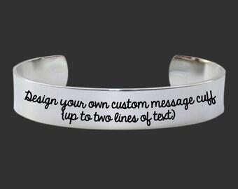 Design Your Own Bracelet   Gift Ideas   Personalized Gifts   Bridesmaid Gifts   Custom Personalized Message Bracelet by Korena Loves