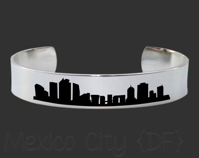 Mexico City DF Skyline | Cityscape Jewelry | Skyline Jewelry | Skyline Bracelet | Cityscape Bracelet | Friend Gift | Travel Gift | Jewelry